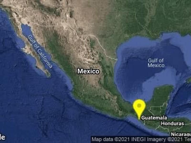 Sismo al Sureste de Pijijiapan, Chiapas