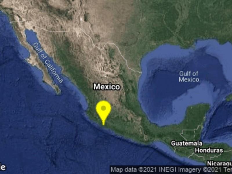 Sismo de 4.9 en Michoacán se percibe en Colima