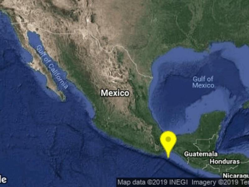 Sismo de 5.3 grados se percibe en Chiapas