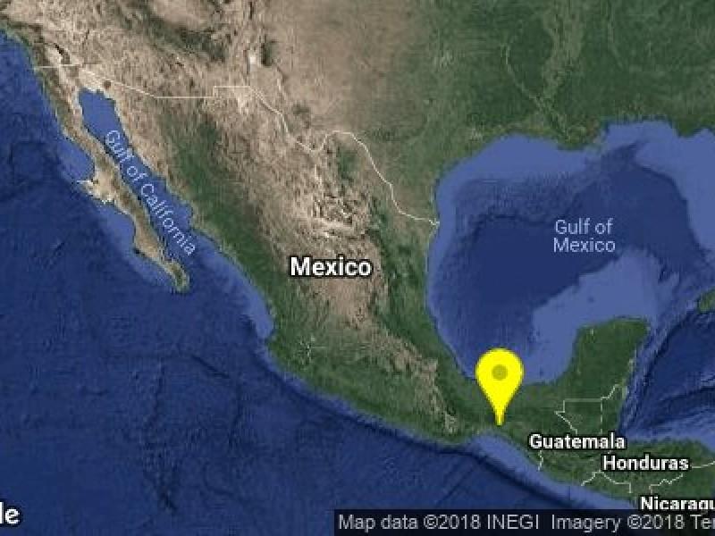 Sismo de 5.4 se registra en Chiapas