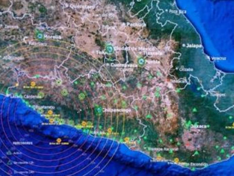 Sismo magnitud 5.2 se registra en Guerrero