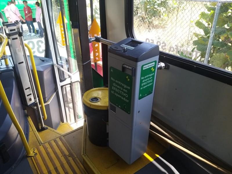 Sistema de prepago sin llegar a todos los transportes