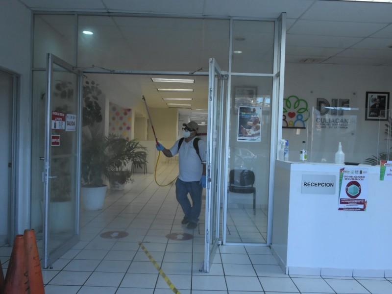 Sistema DIF Culiacán recibe sanitización integral en sus instalaciones
