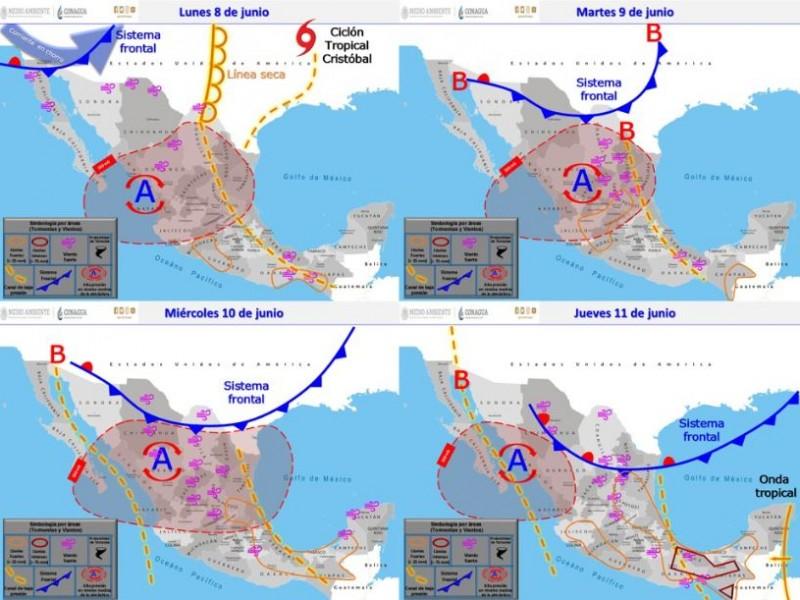 SMN advierte sobre lluvias eléctricas y granizadas en el país