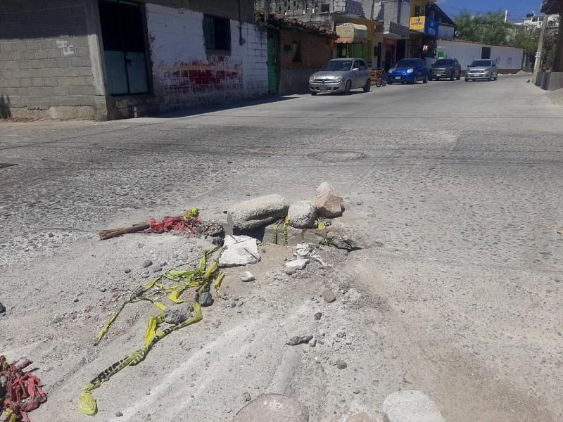 Socavón del barrio Laborio podría ser atendido en priorización 2021