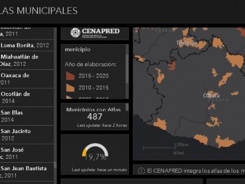 Solamente 37 municipios en Oaxaca cuentan con Atlas de Riesgo