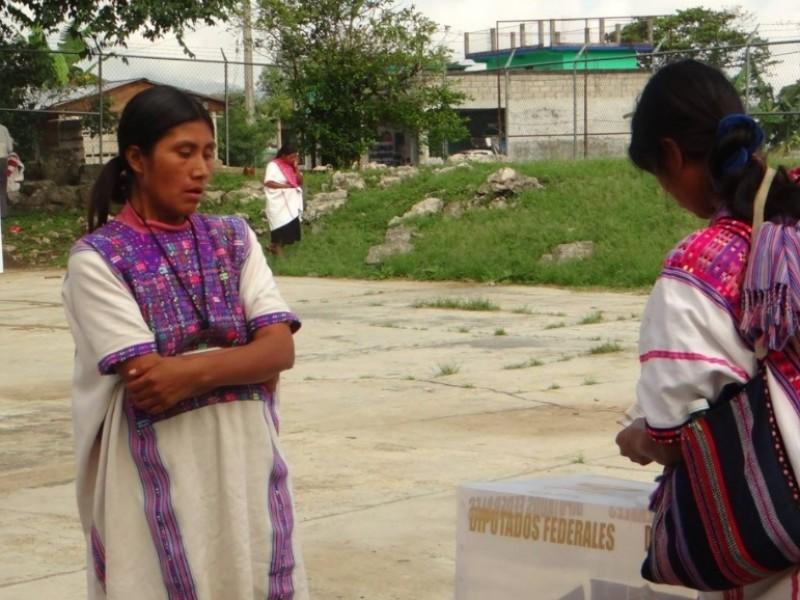 Son más mujeres las candidatas en tres municipios de Chiapas