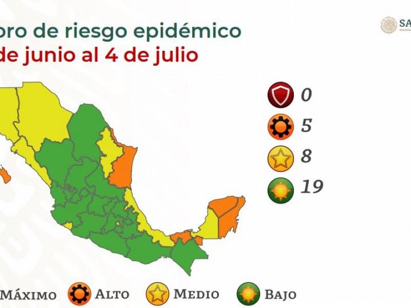 Sonora  en semáforo amarillo hasta el 4 de Julio
