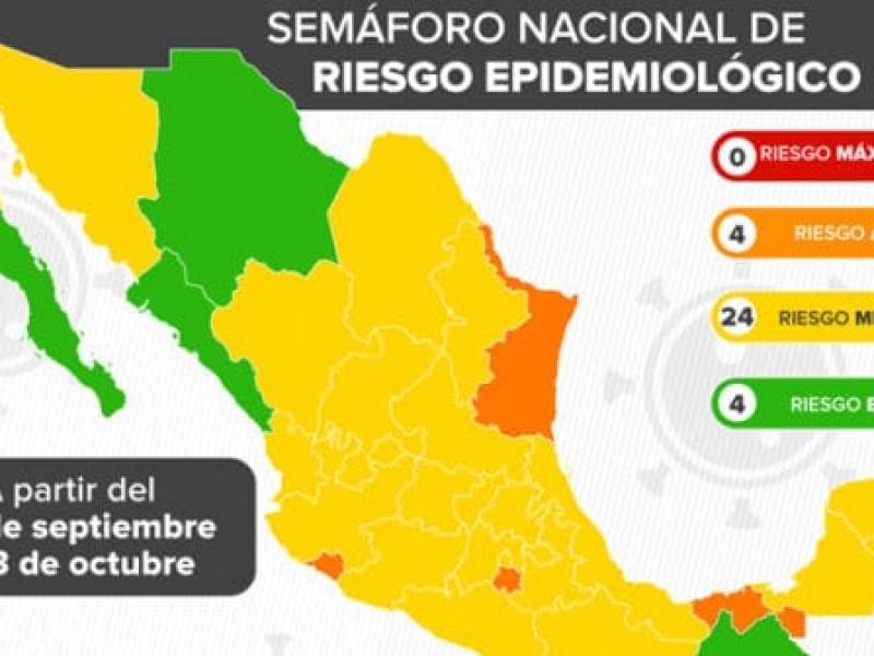 Sonora pasará a semáforo epidemiológico amarillo este lunes