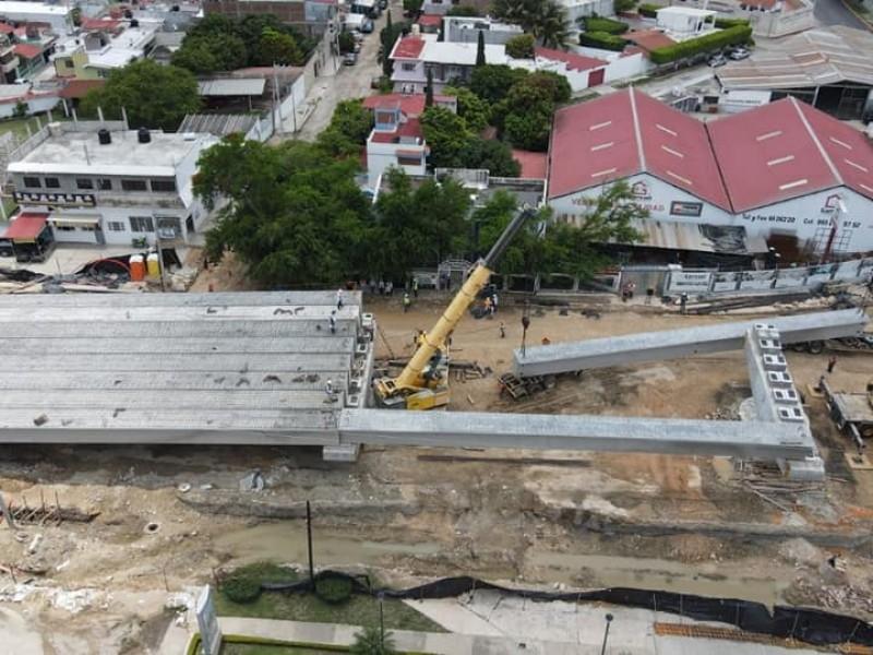 SOP avanza en paso a desnivel en Tuxtla Gutiérrez