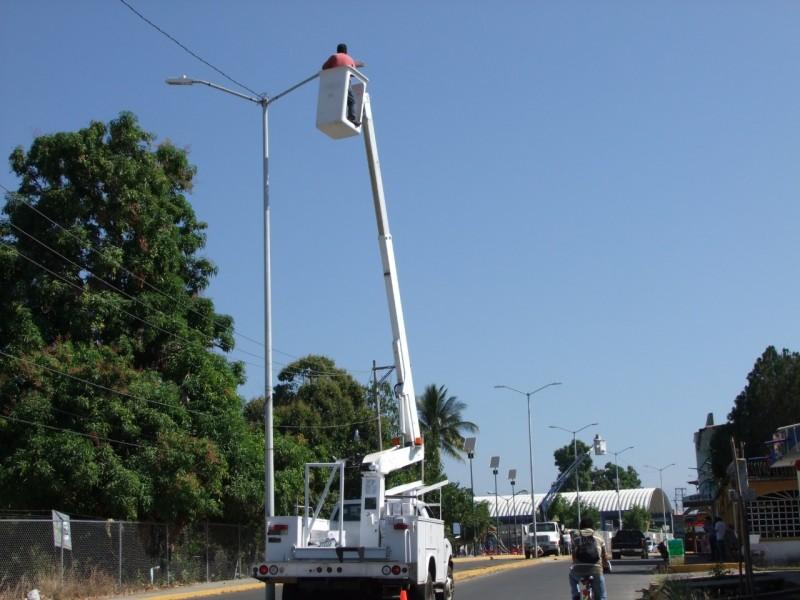 SOP realiza obras de alumbrado público