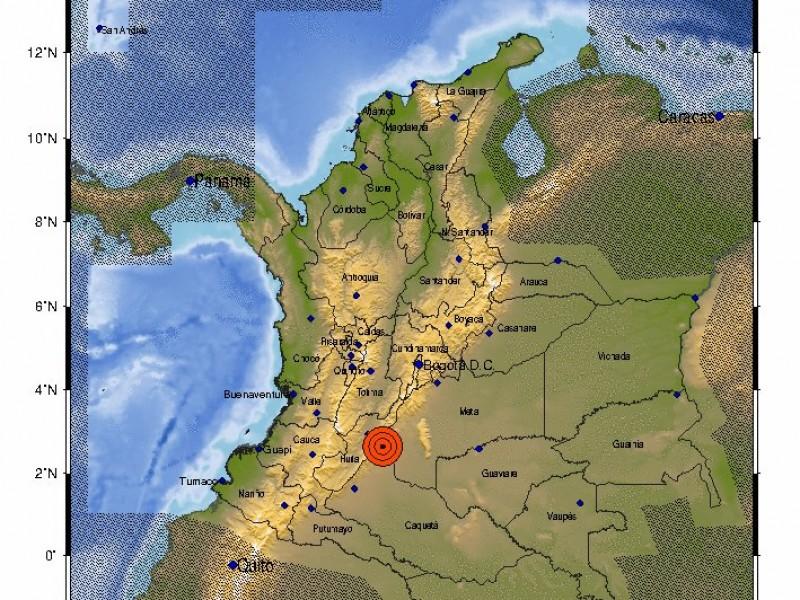 Sorprende temblor en el centro de Colombia