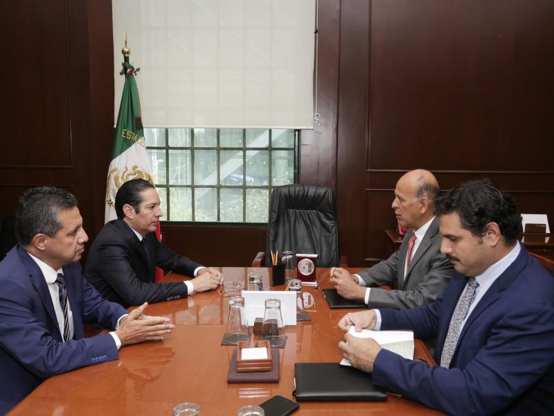 Sostiene Gobernador encuentro con Comisionado del Seguro Popular