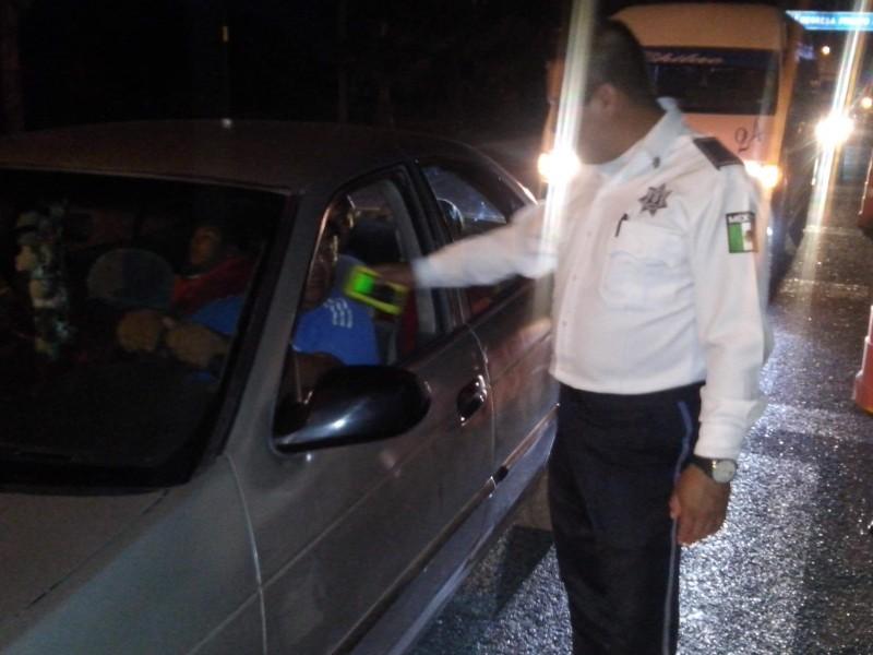 5 accidentes y 24 arrestos a causa del alcohol