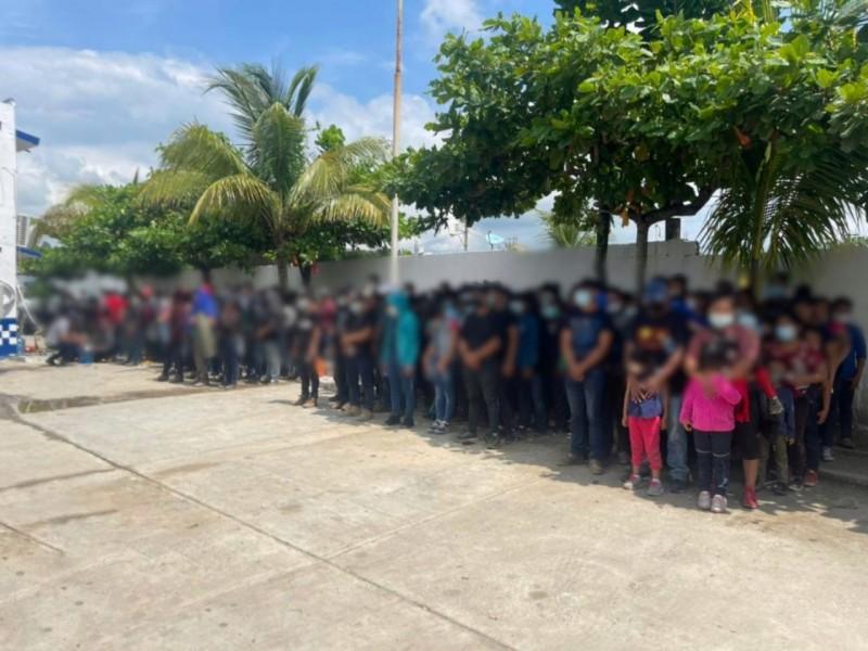 SSP asegura a migrantes en Las Choapas
