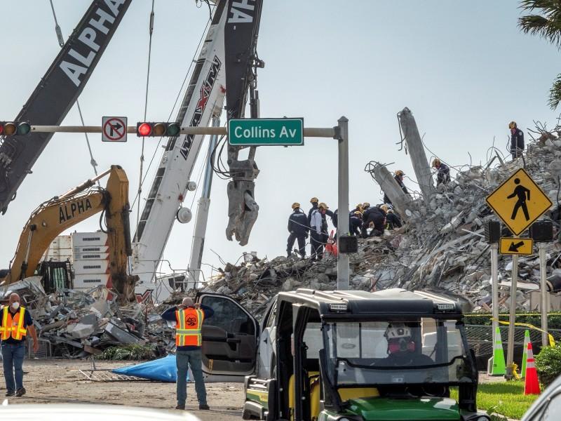 Sube a 90 número de víctimas en derrumbe de Miami