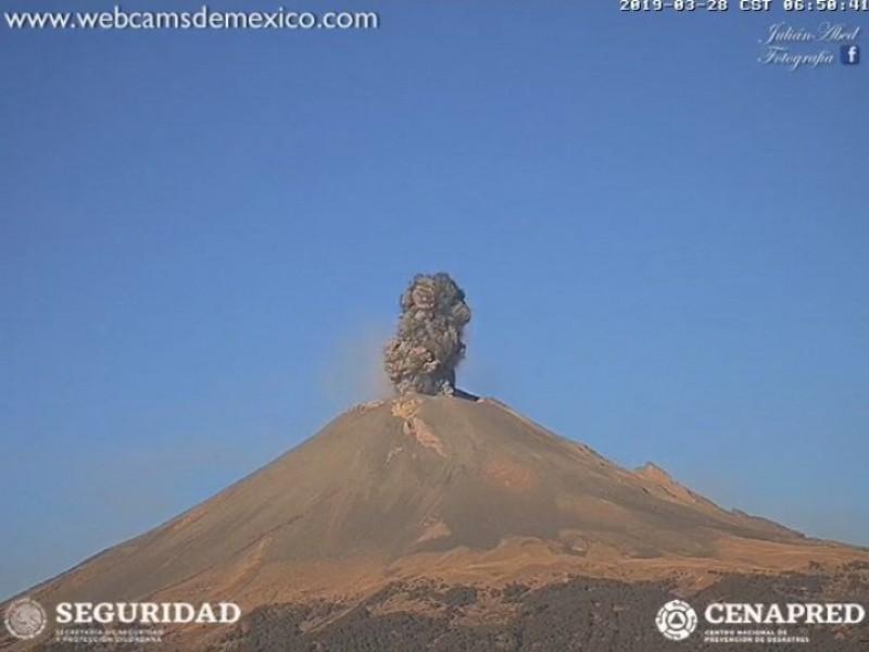 📹Sube a Fase 3 alerta volcánica del Popo
