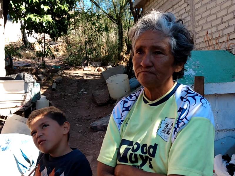 Sufre doña Mercedes en medio de la extrema pobreza