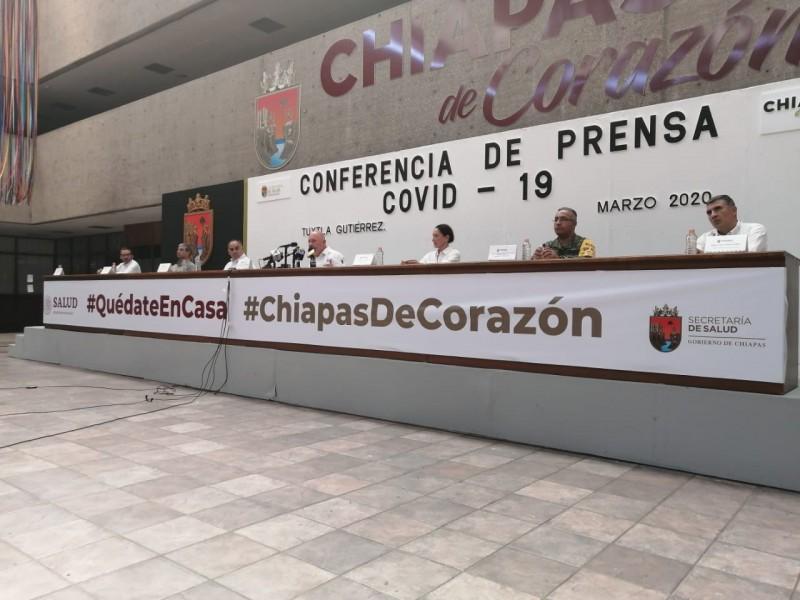 Suman 11 casos confirmados de Covid-19 en Chiapas