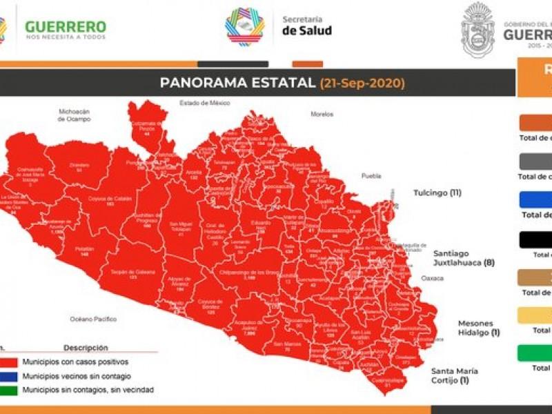 Suman 17,541 casos Covid-19 y 1,869 defunciones en Guerrero
