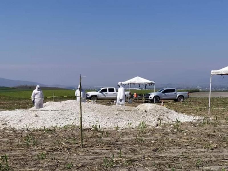 Aumentó a 4 los cuerpos exhumados en fosa clandestina