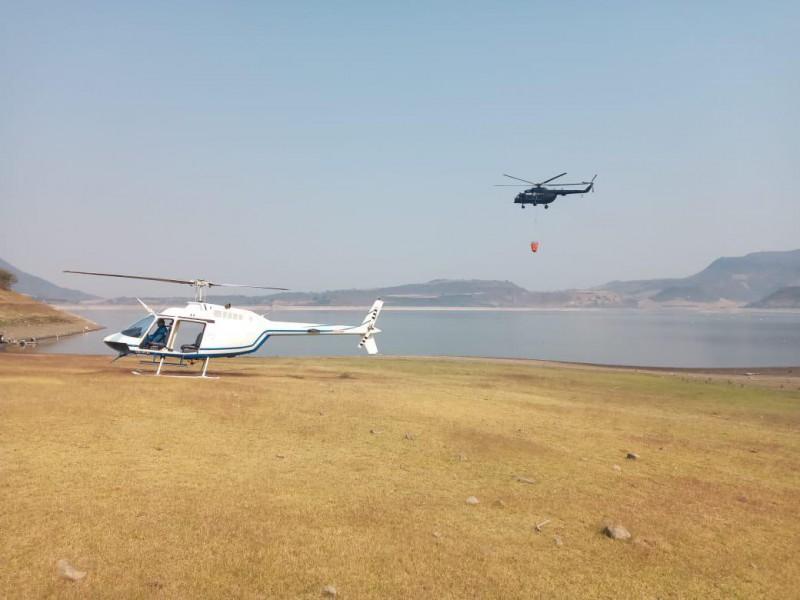 Suman otro helicóptero a labores en Cerro