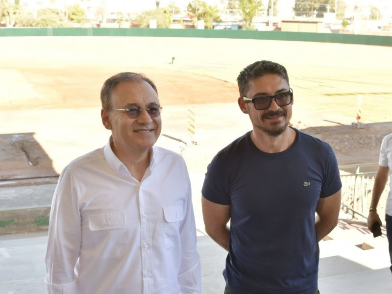 Supervisa gobernador rehabilitación de estadio Héctor Espino