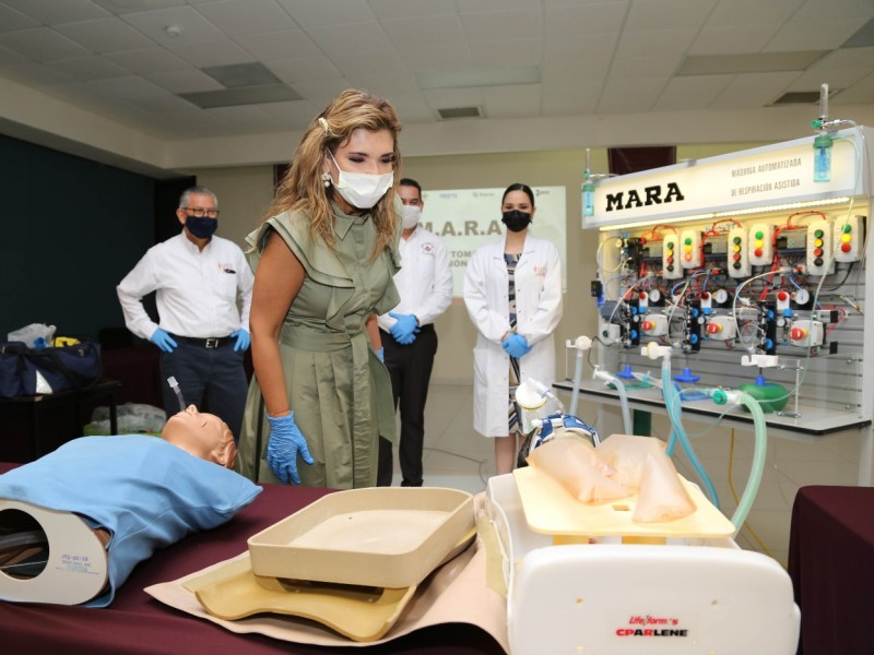 Supervisa Gobernadora  funcionamiento del Respirador MARA