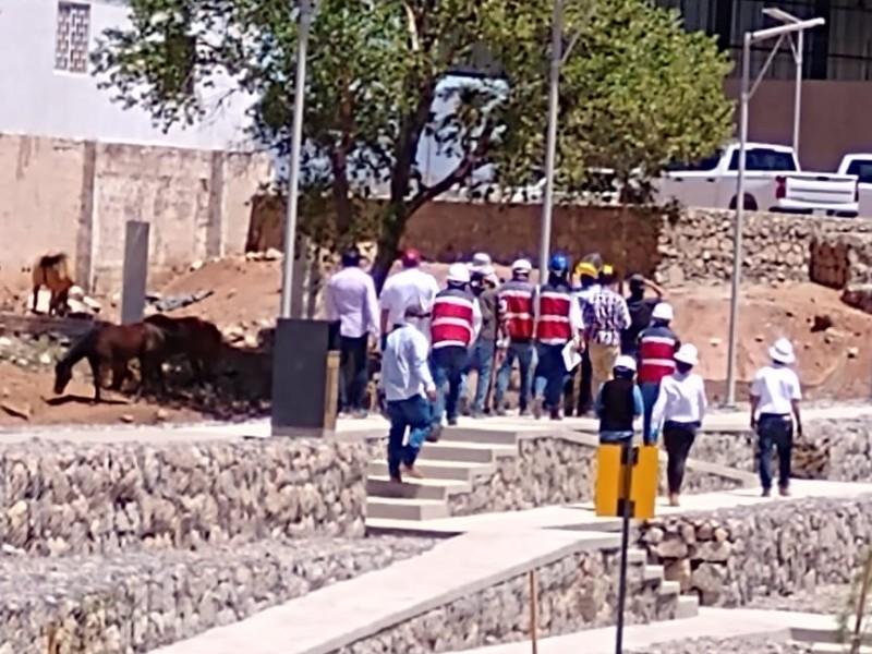 Supervisa SEDATU obras en Nogales