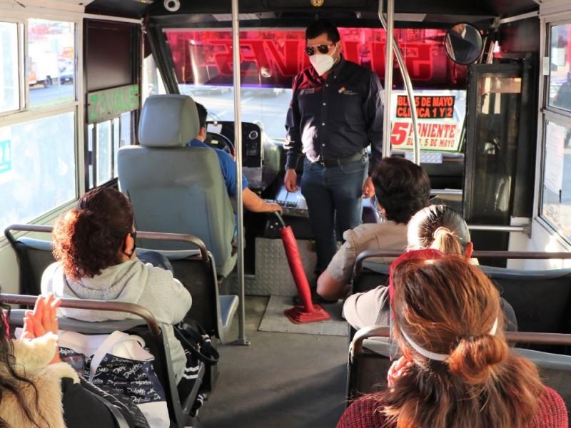 Supervisan 385 unidades de transporte público, una fue detenida