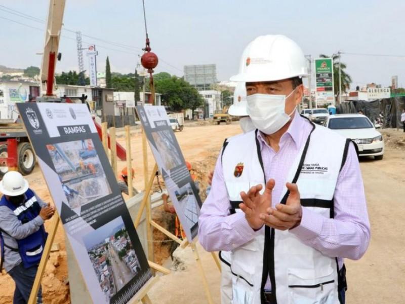 Supervisan autoridades obras de paso a desnivel en TGZ