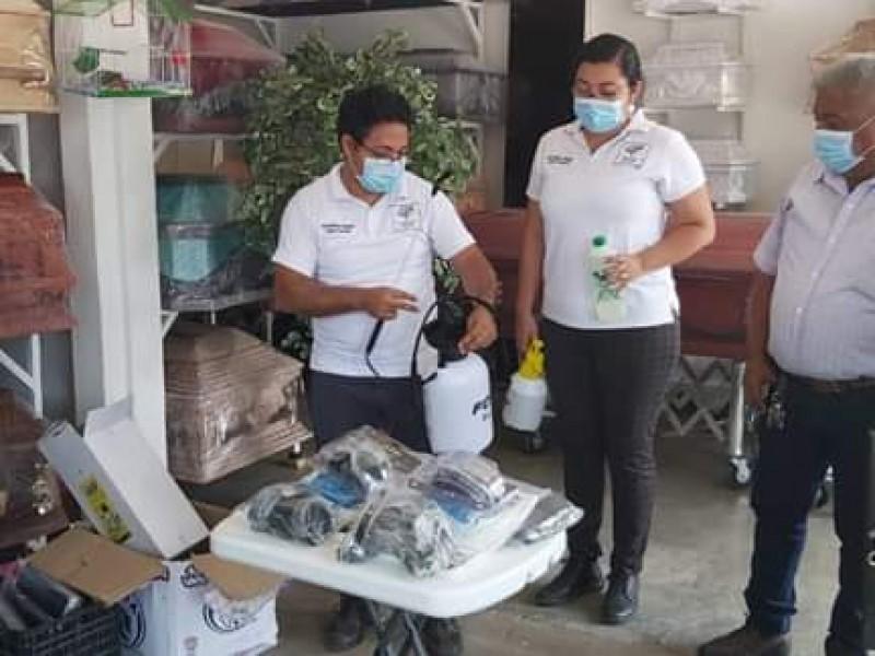Supervisan funerarias para el traslado de victimas por Covid-19: Tehuantepec