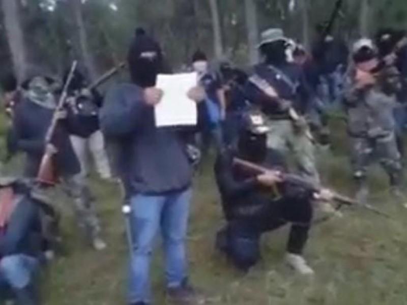 Surge nuevo grupo de de auto defensas en Altamirano Chiapas