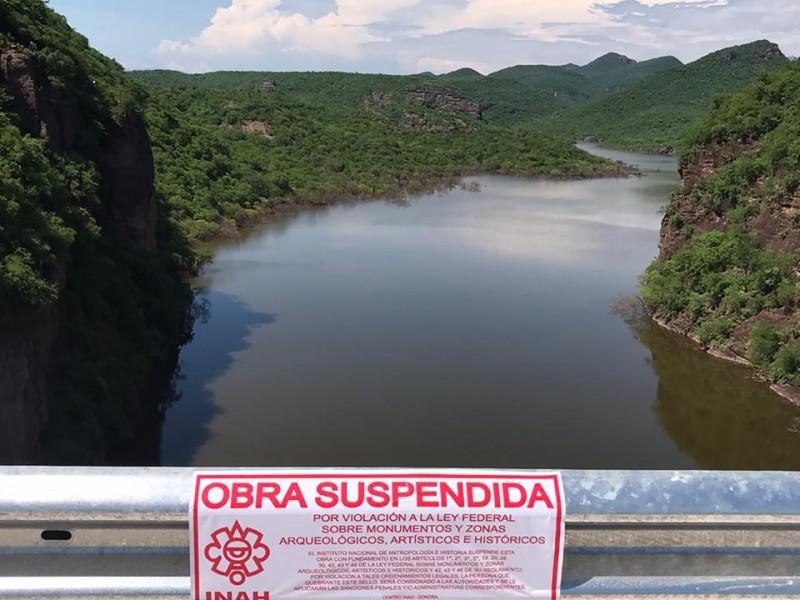 """Suspende INAH obras en Presa """"Pilares"""""""