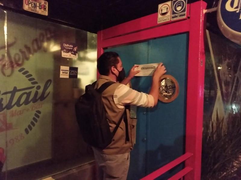 Suspende SSM dos establecimientos nocturnos en Morelia