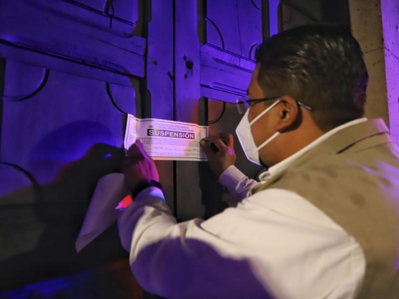 Suspenden 5 establecimientos en Morelia por no cumplir con protocolos