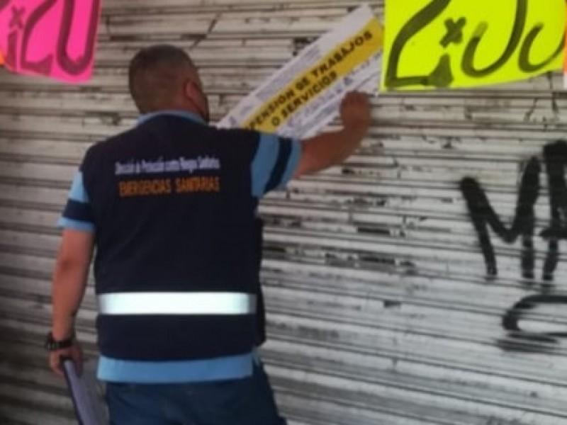 Suspenden 77 establecimientos por incumplir medidas sanitarias