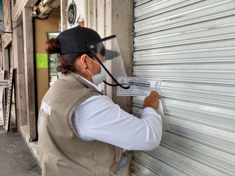 Suspenden 8 establecimientos en Puruándiro y Parácuaro