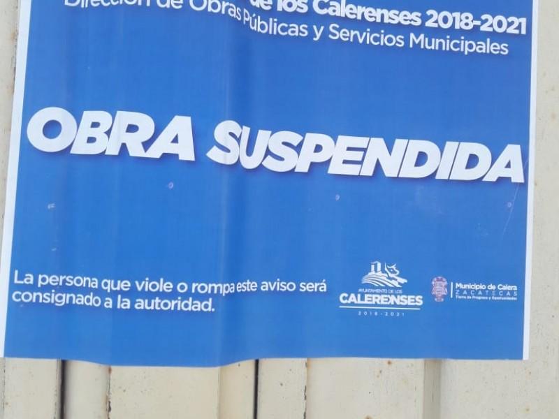 Suspenden construcción de gasera en Calera