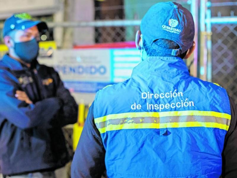 Suspenden establecimientos en Queretaro tras operativo anti Covid-19