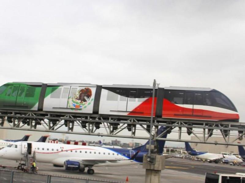 Suspenden servicio de aerotren en el AICM