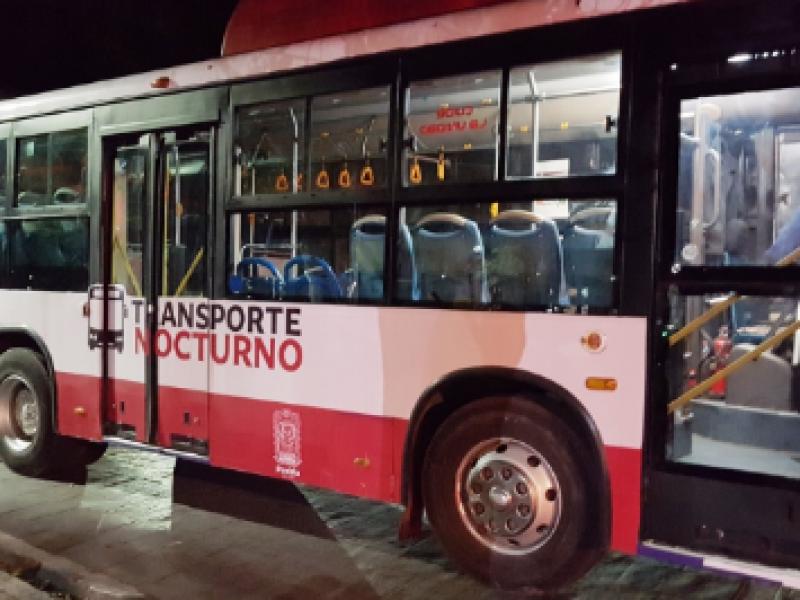 Suspenden servicio de transporte público nocturno por contingencia de COVID-19
