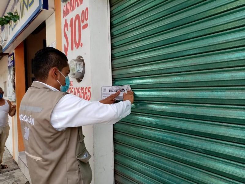 Suspendidos 18 establecimientos en Michoacán por falta de medidas sanitarias