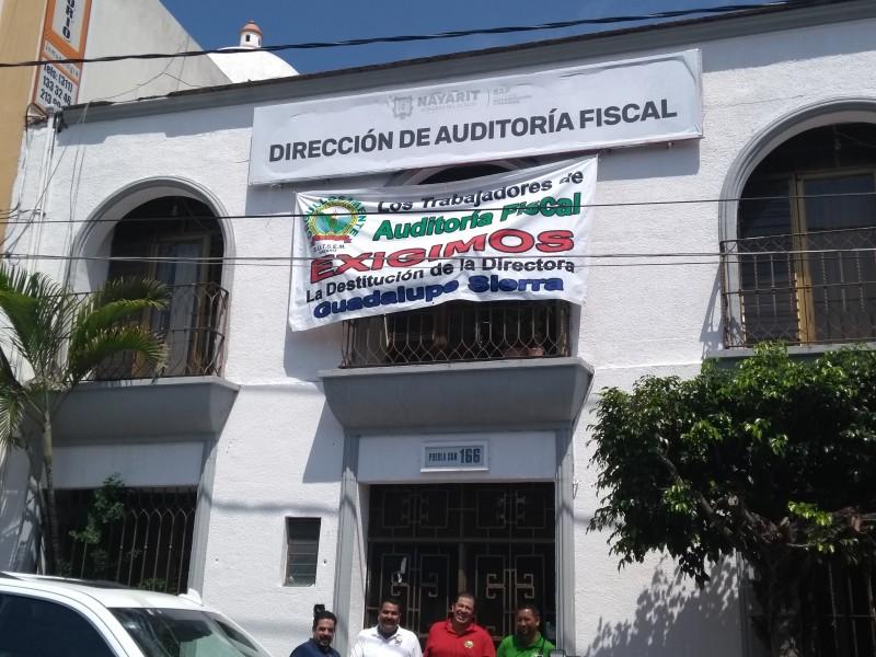 SUTSEM toma las instalaciones de la Auditoría Fiscal
