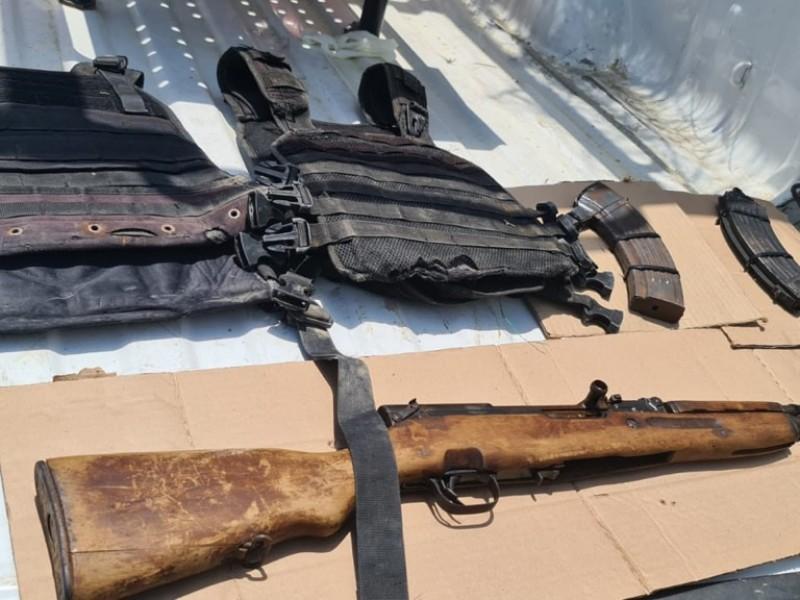 Tamaulipas ¡Aseguran un arma larga, cargadores y chalecos balísticos!