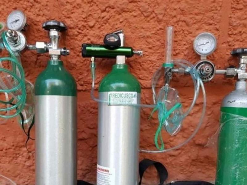 Tanques de oxígeno incrementan precio ante pandemia