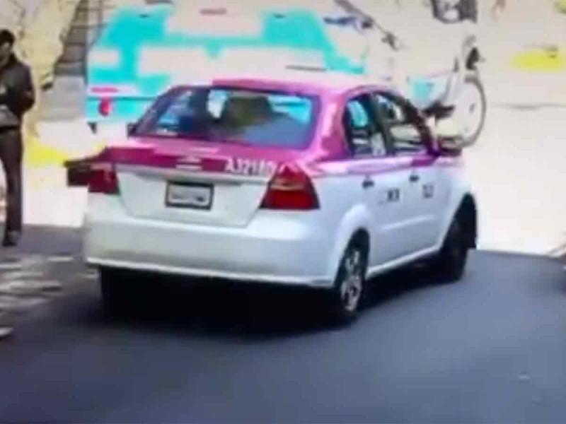 ¡CUIDADO! Utilizan taxi para asaltar en la CDMX