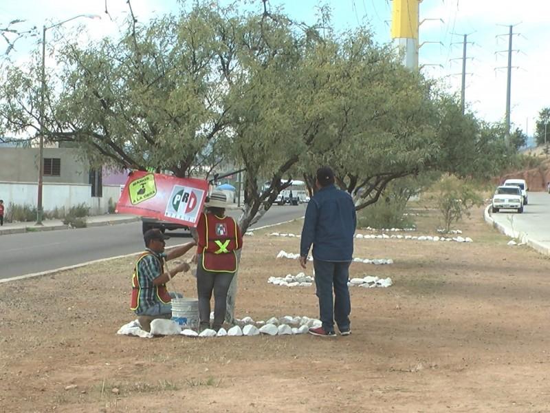 Taxistas adoptan parques y bulevares Fraccionamiento la Mesa...