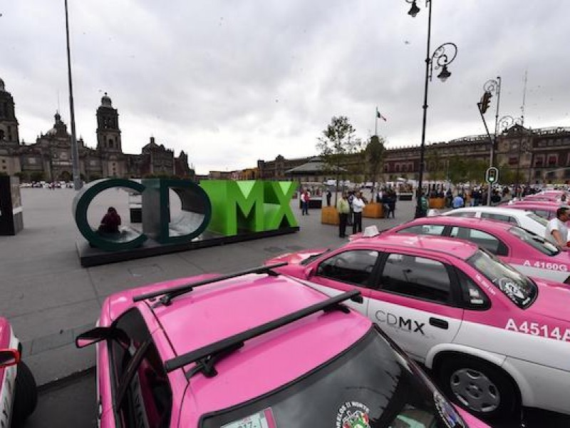 Taxistas cancelan manifestaciones este lunes en CDMX