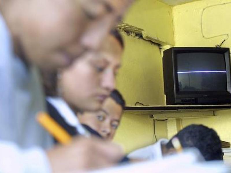Telesecundarias de Chiapas sin televisores